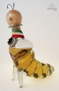 Casta Pasion Tequila Reposado Worm Bottle